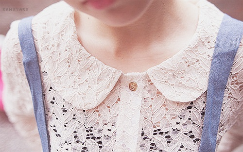 sweet. A very sweet looking peter pan collar with a cute combination of lace.