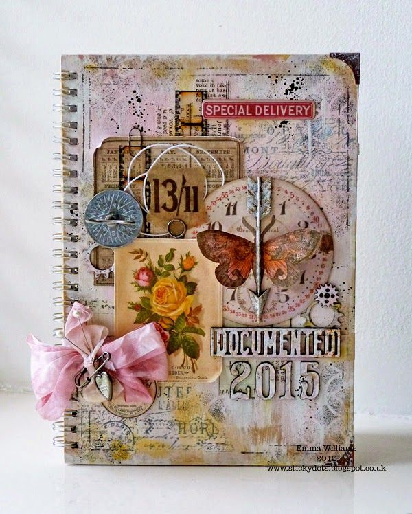 That's Life: It's A New Year ~ Altered Book Cover created using Tim Holtz products