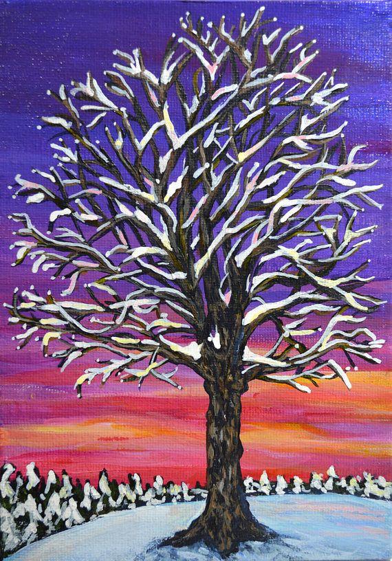 Original Acrylic Sunset landscape Painting 6