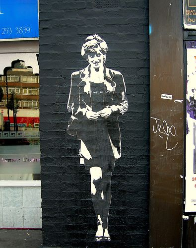 Paste-up by Blek Le Rat, Old Street, Shoreditch, London   #BlekLeRat - More streetart @ www.Streetart.nl