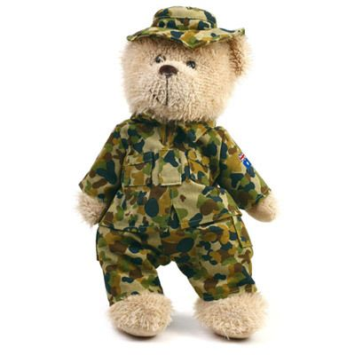 Defence Gifts - ARMY Teddy Bear in CAMS 30cm, $25.95 (http://www.defencegifts.com.au/army-teddy-bear-in-cams-30cm/)