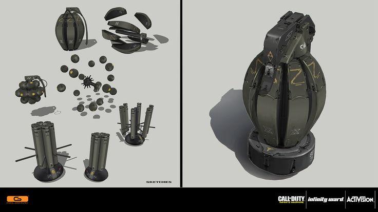 ArtStation - Call of Duty: Infinite Warfare - Cluster grenade, Nenad Gojkovic