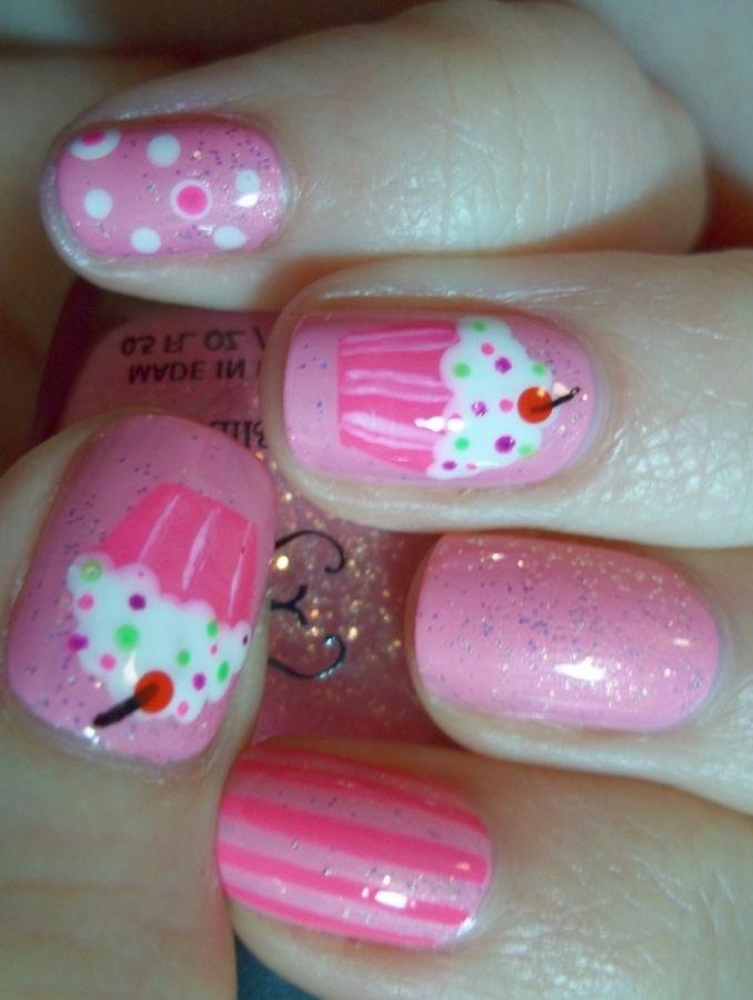 best 25+ cupcake nail art ideas on pinterest | cute kids nails