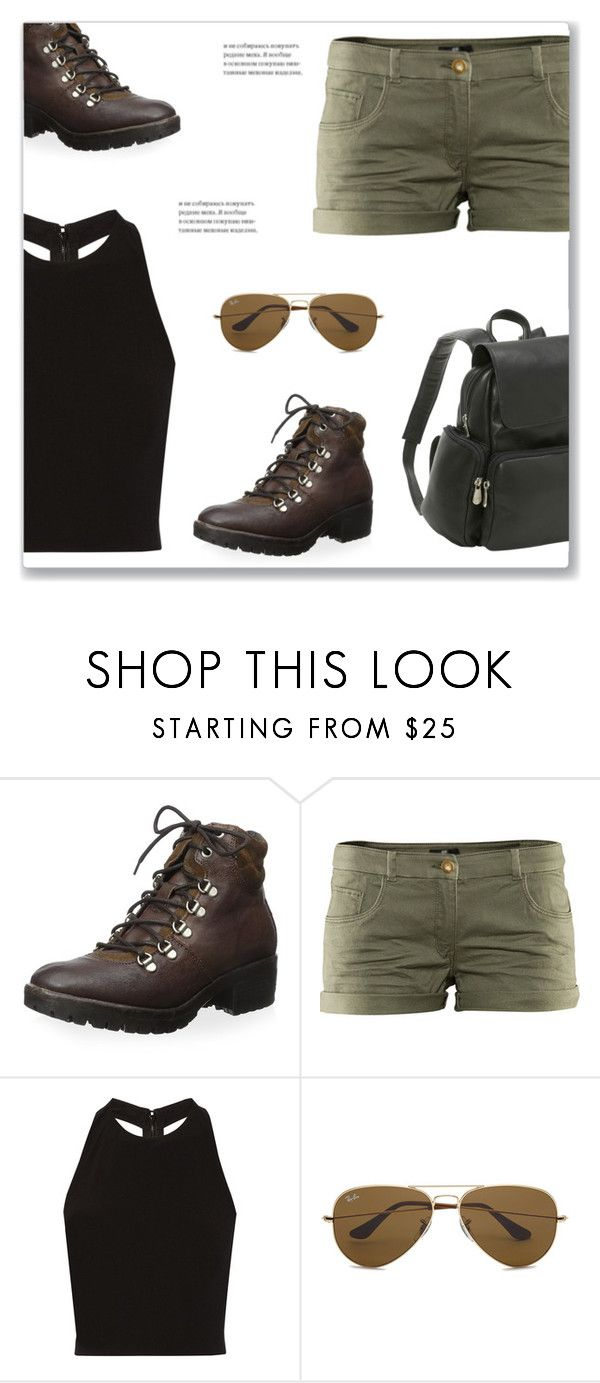"""""""Lara Croft DIY"""" by mmmartha ❤ liked on Polyvore featuring Khrió, Alice + Olivia, Ray-Ban and Le Donne"""