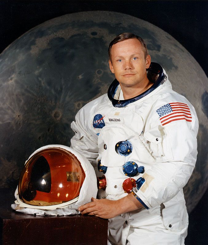 Neil Alden Armstrong (1930-2012), first man to walk on the moon, July 20, 1969. Navy pilot during Korean war completing 78 combat missions.http://www.nytimes.com/2012/08/26/science/space/neil-armstrong-dies-first-man-on-moon.html?pagewanted=all