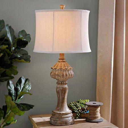 Distressed Natural Table Lamp | Kirklands