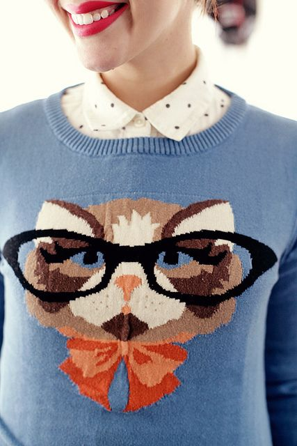 Kitty Cat Sweater by Modcloth