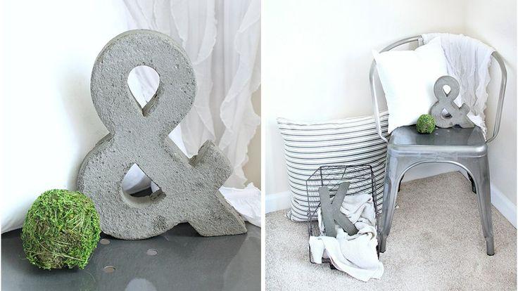 Lettres grises ciment
