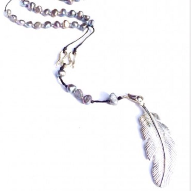 Spread your wings with beautiful silver pearl rosary beads & feather pendant! Hand made with LOVE!! ~$54~ Purchase online today & save 10%  http://heartmala.com/rosary-beads/silver-pearl-rosary-beads-silver-feather.html