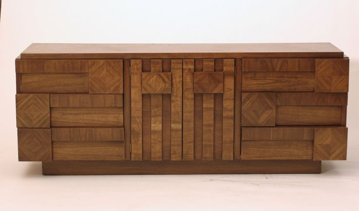 Harrington Galleries - 1970s #Brutalist Mosaic #Cubist Lowboy Dresser by #Lane, $1,200.00 (http://webstore.harringtongalleries.com/1970s-brutalist-mosaic-cubist-lowboy-dresser-by-lane/)