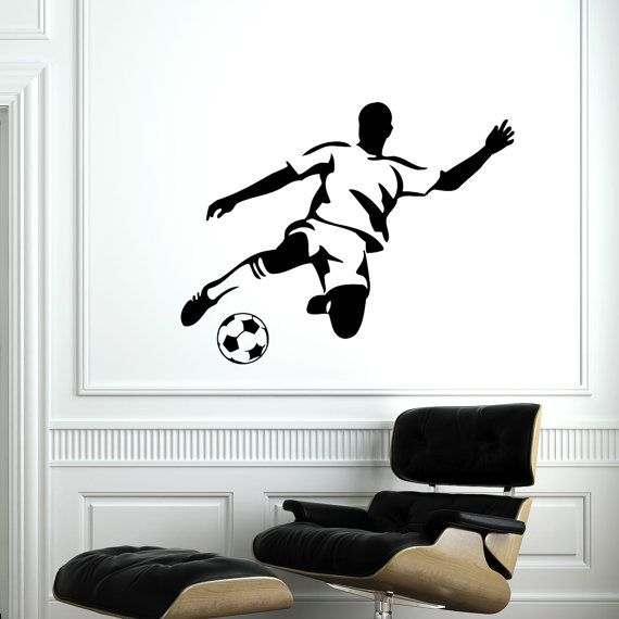 Wall Decal Soccer Player Vinyl Sticker Decals by SuperVinylDecal