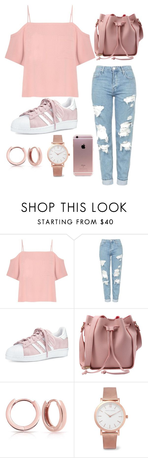 """Untitled #99"" by andreia-lin on Polyvore featuring T By Alexander Wang, Topshop, adidas, Bling Jewelry and Larsson & Jennings"