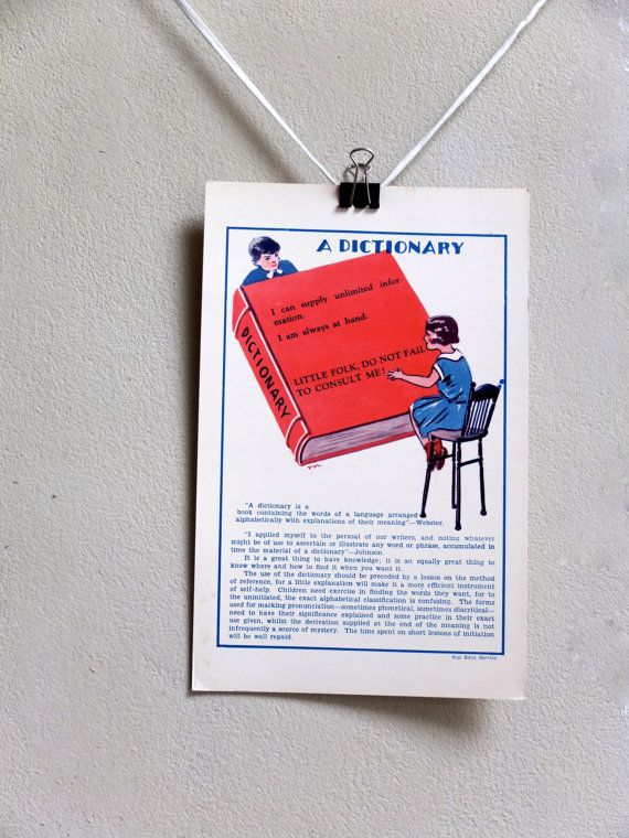 Art Deco print / large flash card / reading chart by 1001Artforms