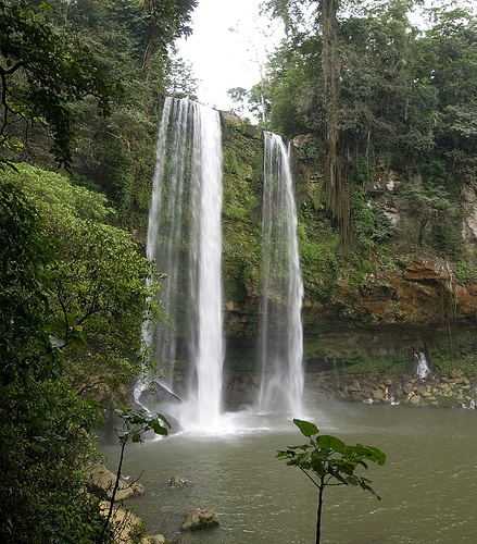 Misol-ha waterfall.   Remember what movie someone jumped from the top of this waterfall?