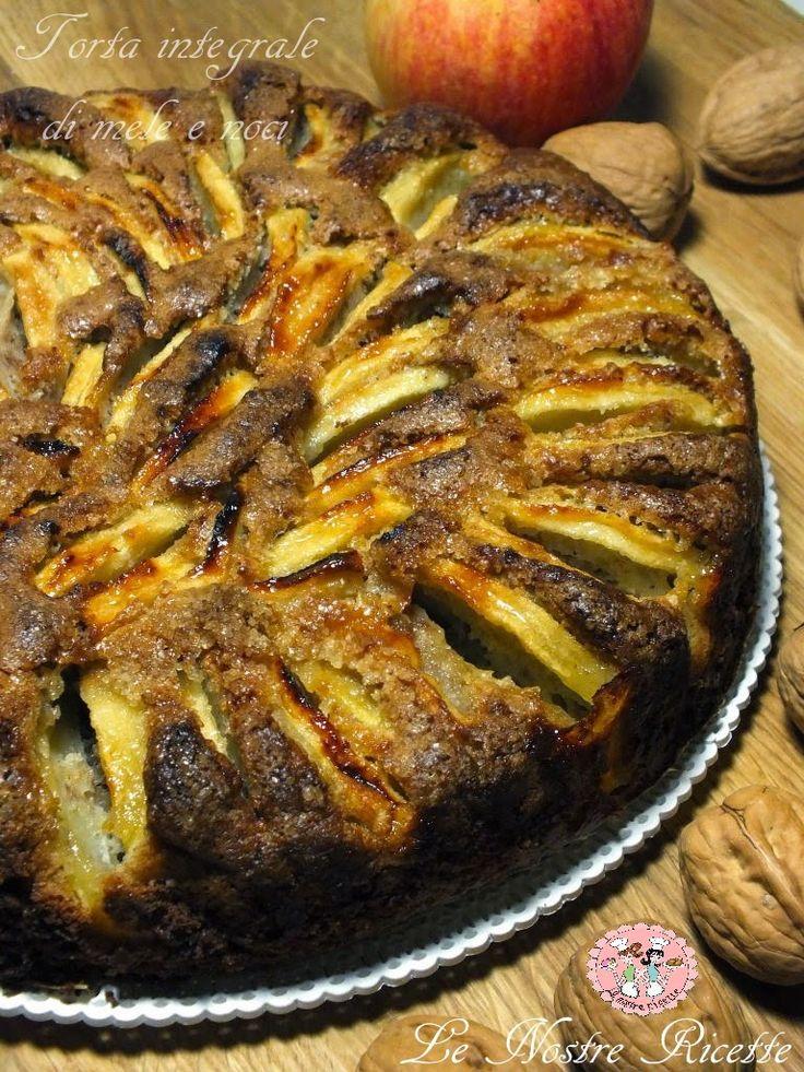 torta integrale di mele e noci