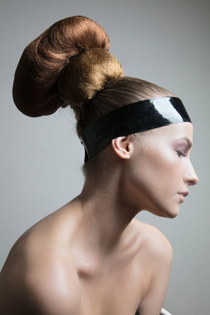 Vika wears a sleek updo hairstyle. Photo: Jeff Tse