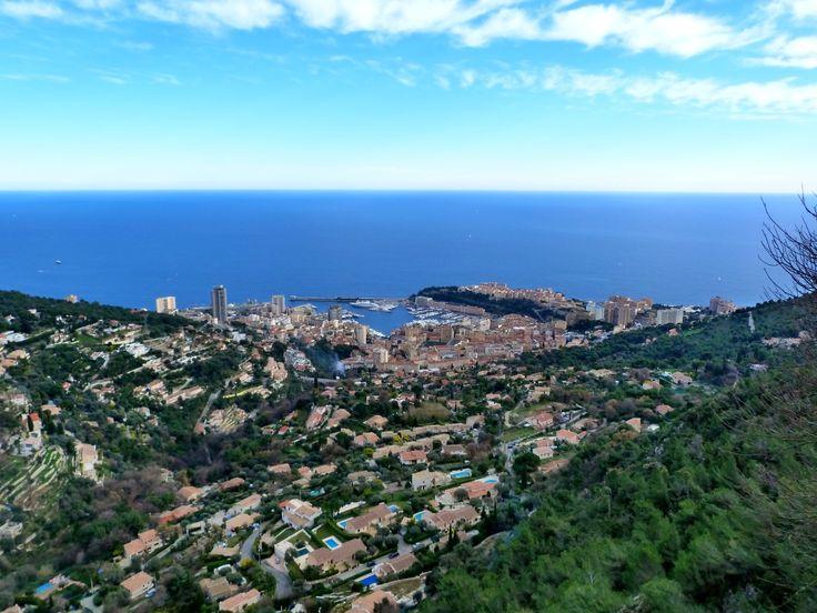 Monte Carlo depuis la Turbie, Côte d'Azur, France