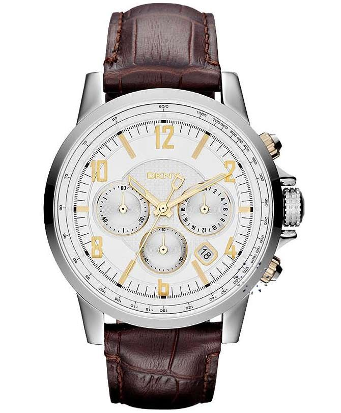 DKNY Chronograph Brown Leather Strap Η τιμή μας: 179€ http://www.oroloi.gr/product_info.php?products_id=32555