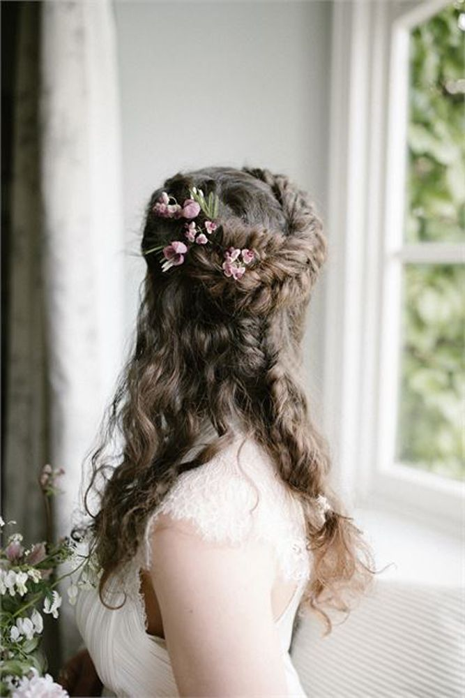 For A Bohemian Rustic Beach Or Outdoor Wedding Hair Style Look No Further Than These Braided Half Up Half Wedding Hair Down Short Wedding Hair Half Up Hair