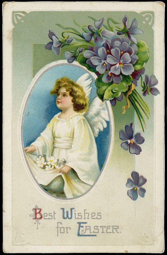 Items Similar To Vintage German Easter Postcard On Etsy