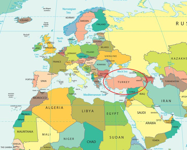Map Of Turkey And Surrounding Countries Political Map Turkey - Map of turkey