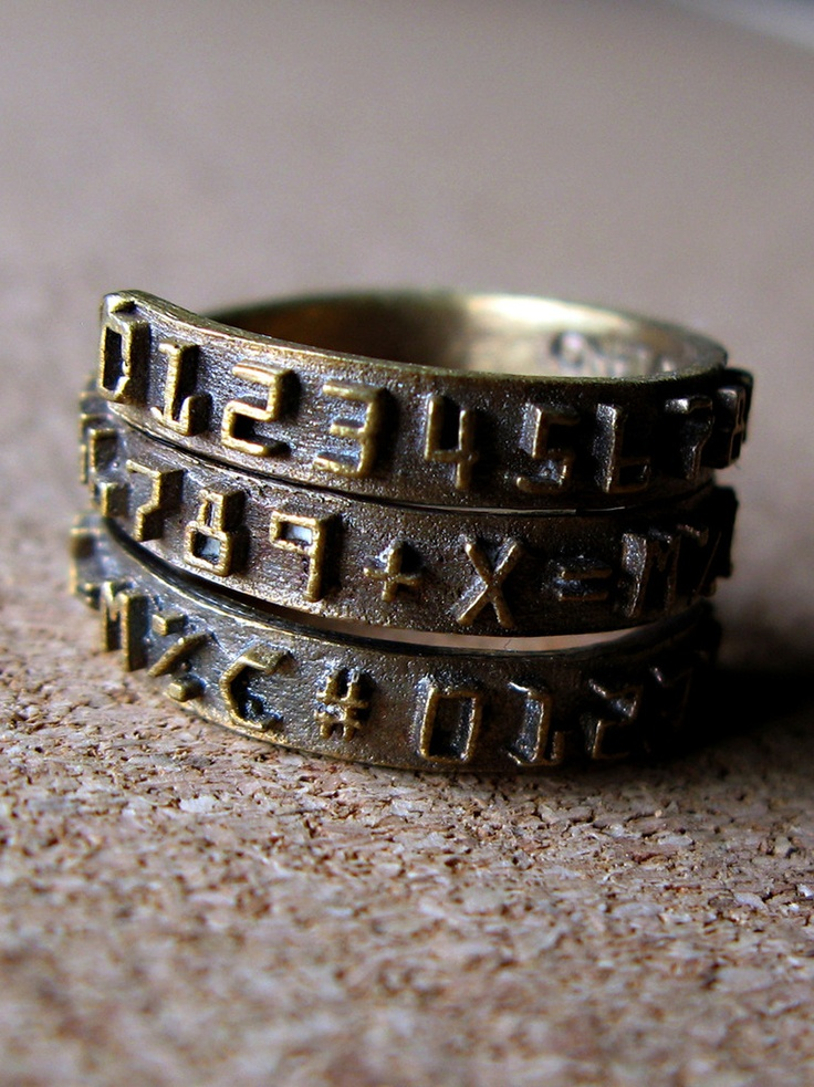 Typewriter ring: Design Inspiration, Numbers Rings, Numbers Bands, Make Jewelry, Bands Wraps, Antiques Numbers, Typewriters Rings, Wraps Rings, Robynn Molino