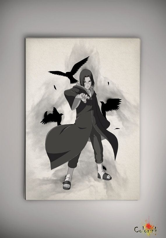 Naruto Shippuuden Itach Uchiha Akatsuki Watercolor Print Print Art Print Wall Decor Art Poster Anime Print Manga Cartoon Multi Size n311 on Etsy, 31,44 zł