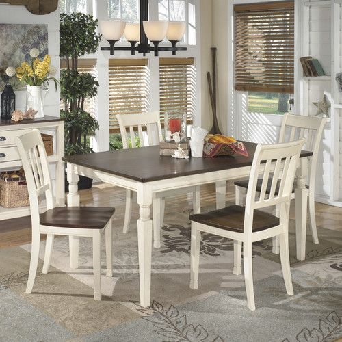 The Whitesburg Dinette 5 Piece Set Table 4 Side Chairs Is A Fabulous Choice For Your Home Casual Cottage Style Crafted From Select Hardwood