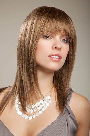 'Ruby' fully hand tied mono top, available in over a dozen different colors. 13'' in length, bangs 4'' Color shown: 12R