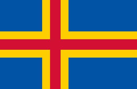 Flag of Åland Islands - Autonomous region of Finland (recognized by international treaty)