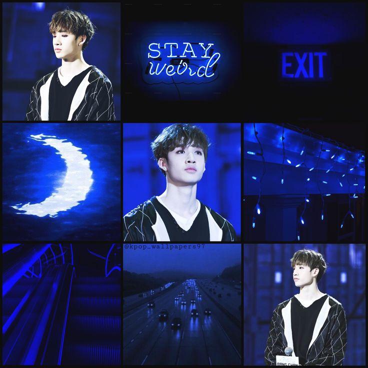Chan Stray Kids🖤💙 Chan Bangchan Moodboard Blue
