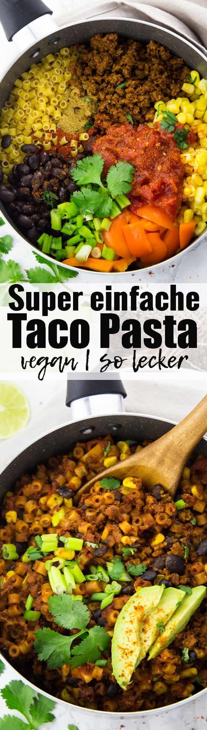 Super leckeres und einfaches veganes Rezept für Taco Pasta mit schwarzen Bohnen und Mais. So ein richtiges Wohlfühlessen und perfekt als schnelles Abendessen! Mehr vegane Rezepte findet ihr auf veganheaven.de ! via @veganheavende