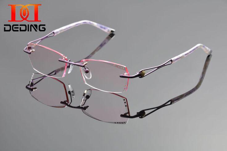 >> Click to Buy << DeDing 2016 New Women Rimless Glasses Frame Female Diamond Trimming Optical Eyeglasses Frame  mulheres Oculos sem aro DD1246 #Affiliate