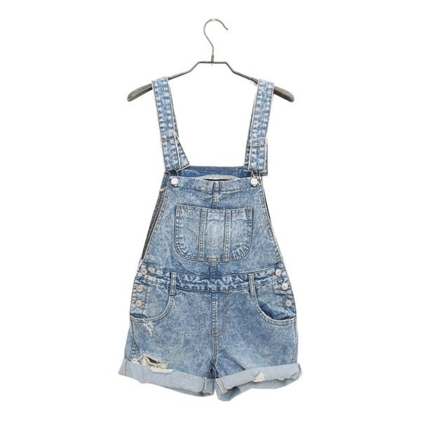 Klassiska hängselbyxor (765 MAD) ❤ liked on Polyvore featuring jumpsuits, rompers, shorts, bottoms, dresses, overalls, women, blue bib overalls, denim overalls and denim bib overalls