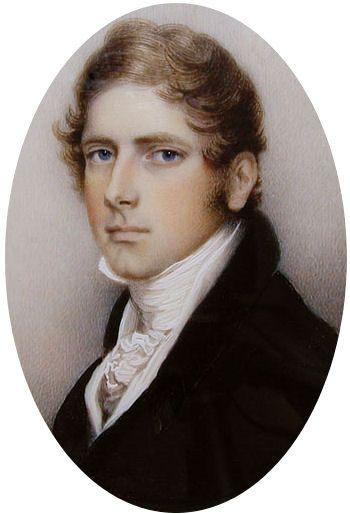Georgian Era: Miniature Portrait of Edward Archer 1815, by Andrew Plimer.