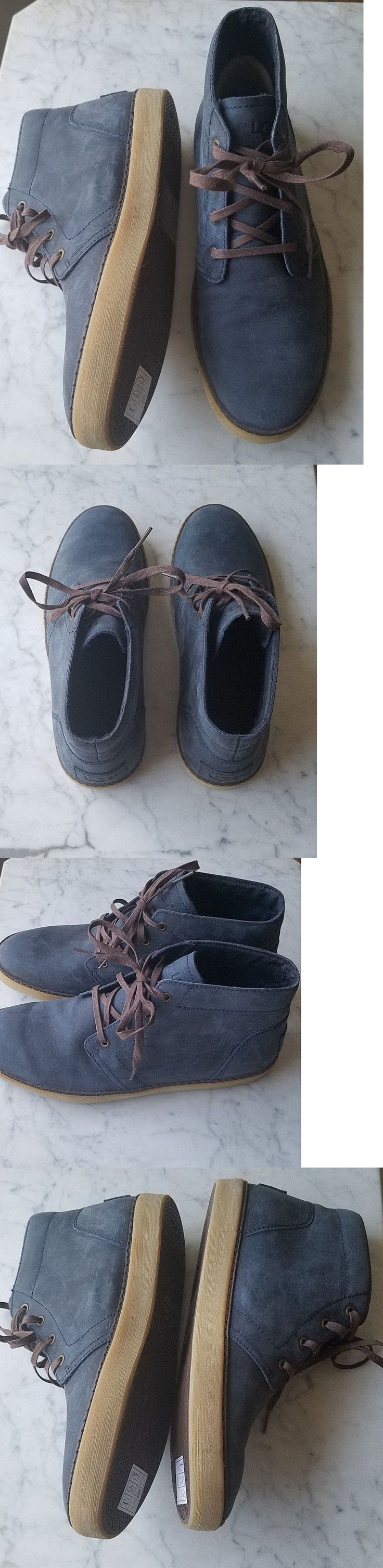 Slippers 11505: New Ugg Australia Alin Chukka Ankle Boot Shoes Mens 9 Navy 1007585 -> BUY IT NOW ONLY: $59.97 on eBay!