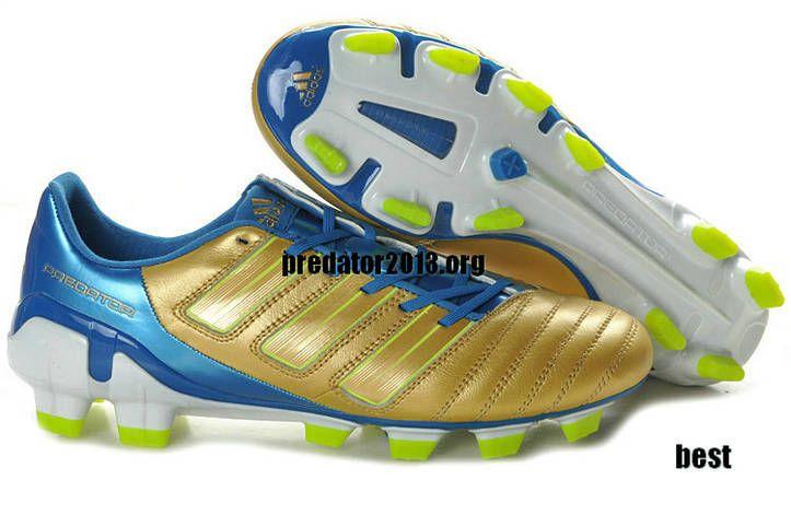Adidas predator 2011 trx fg golden sharp blue uefa