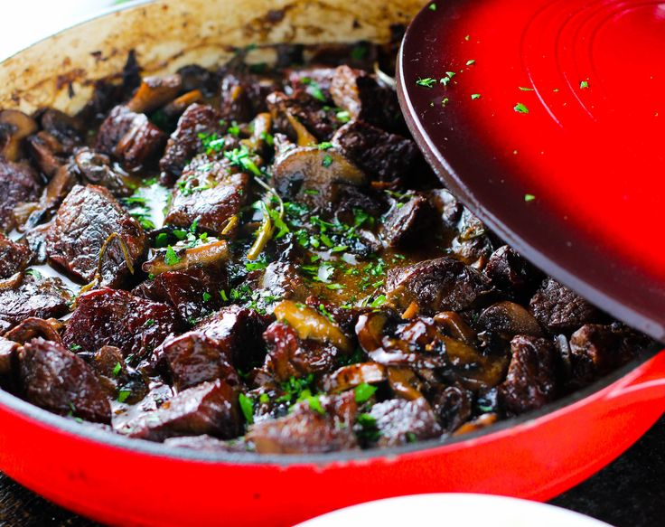 Fragrant mushrooms and tender meat are combined with fresh herbs to give this classic beef stew a gourmet twist. I grew up in Russia (technically Moldova, but we will leave the technicalities be for now). The winters were frigid. And sometimes a bit depressing, as winters tend to be. Food was used to comfort the …