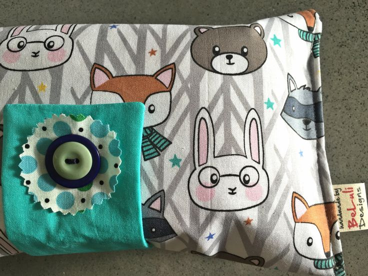 Baby or toddler funky nappy wallet. Woodland Friends fabric.  Custom made to create a unique item for you