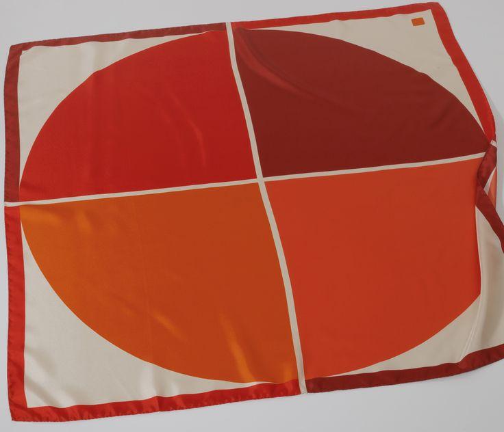 Sun Orange Carré de soie
