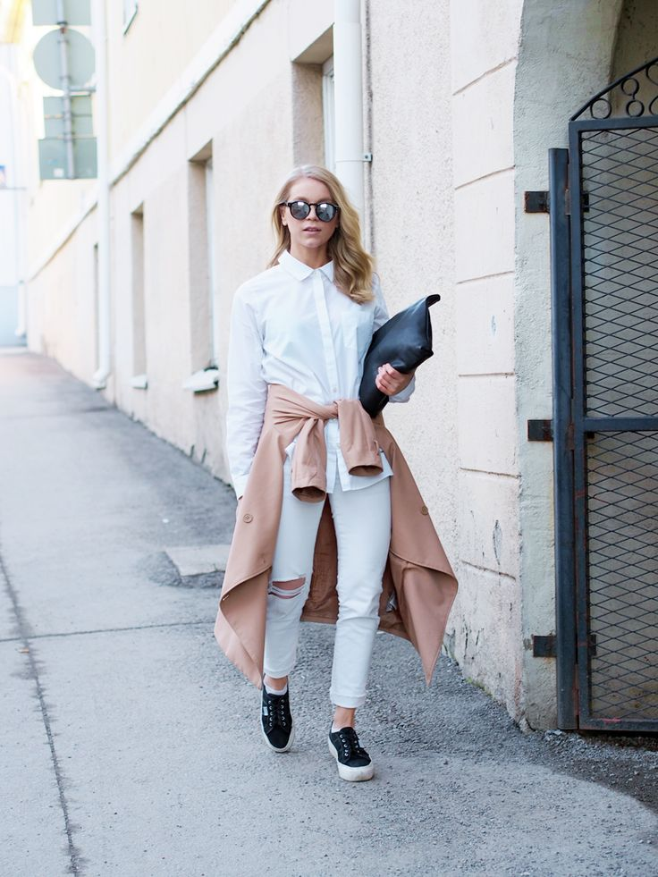 LACK OF COLOUR / All white Outfit / Trench Coat