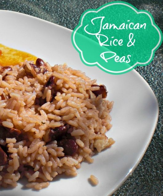 I WOULD COMMIT MURDER FOR JAMAICAN FOOD.  Not literally, just letting you know how passionate I feel about it. The dish is Rice & Peas (although the peas are kidney beans in most cases).  My dad would keel over if he heard anyone say rice and beans.