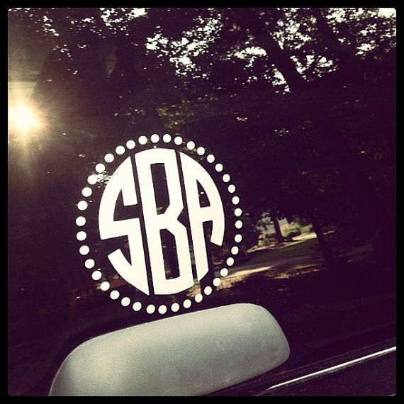 Unique Car Window Decals Ideas On Pinterest Window Decals - Monogram car decal sticker