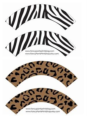 Free Printable Cupcake Wrappers   animal                              …