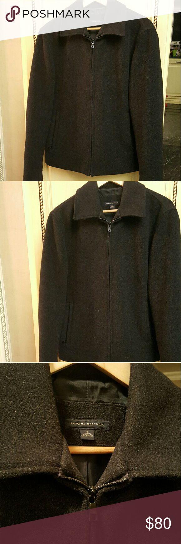 SALE! MENS- Banana Republic Pea coat Mens banana Republic Black Pea coat with 2 zippers pockets in great condition  **2-7bin (storage note to self) Banana Republic Jackets & Coats Pea Coats