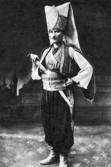 Ataturk attended an invitation in Sofia with Jenissary costume and was the center of attraction.
