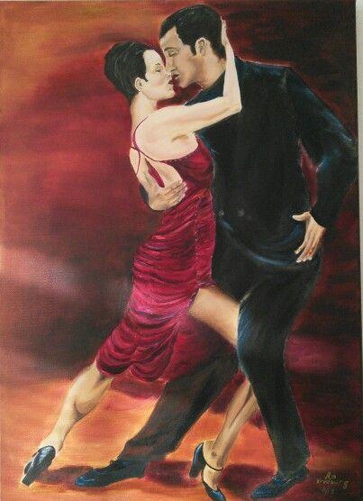 Tango passion 3 / by An Vreeburg  Oil / Canvas 50 X 70 cm.