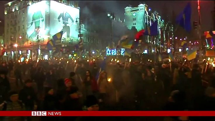 Fascism, Ukraine, 2014    Ukranian Nationalists march to honor 105th birthday of Stepan Bandera