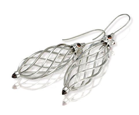 Absalom Khumalo made these platinum earrings