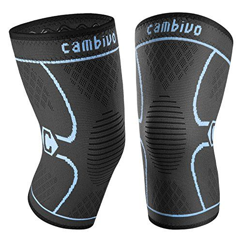 Cambivo 2 Pack Knee Brace, Knee Compression Sleeve Support for Running, Arthritis, ACL, Meniscus Tear, Sports, Joint Pain Relief and Injury Recovery (FDA approved) - Whether you're a total exercise novice or a fitness pro, we make sure that you get comfort, style and value for money, that's why we perfected our knee sleeves with 3D knitting technology for breathable and secure fit. It's made of higher quality 4-way stretching material for superior comfort, fl...